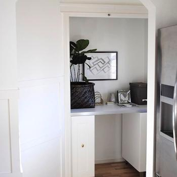Closet Office, Contemporary, den/library/office, Flourish Design & Style