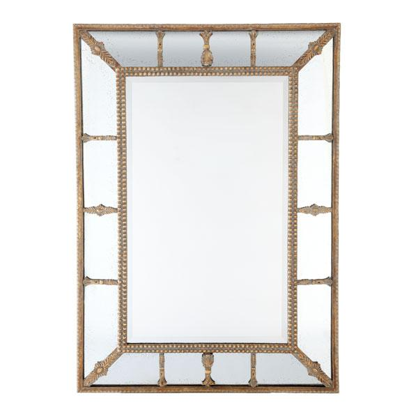 Venetian Beaded Beveled Wall Mirror