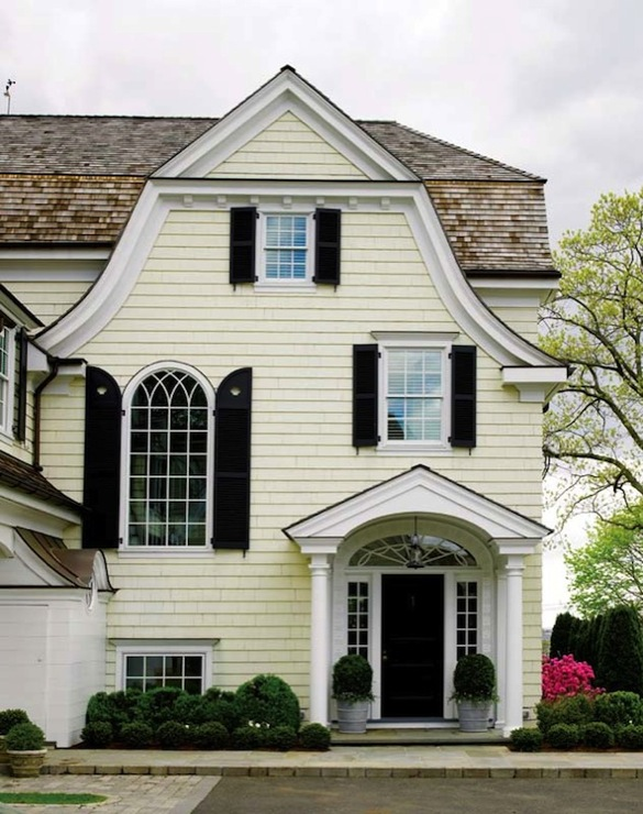 Portico traditional home exterior new england home for Modern colonial home exterior