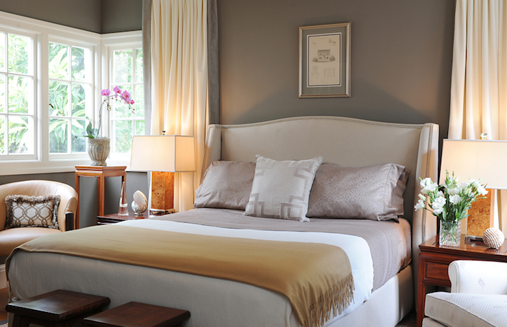 Taupe Paint Color Transitional Bedroom Benjamin Moore Sparrow Brian Dittmar Design