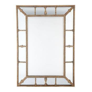 Gilded Beaded Mirror, Mirrors, Wisteria
