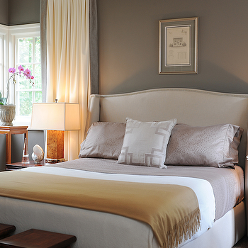 Taupe Paint Color, Transitional, bedroom, Benjamin Moore Sparrow, Brian Dittmar Design