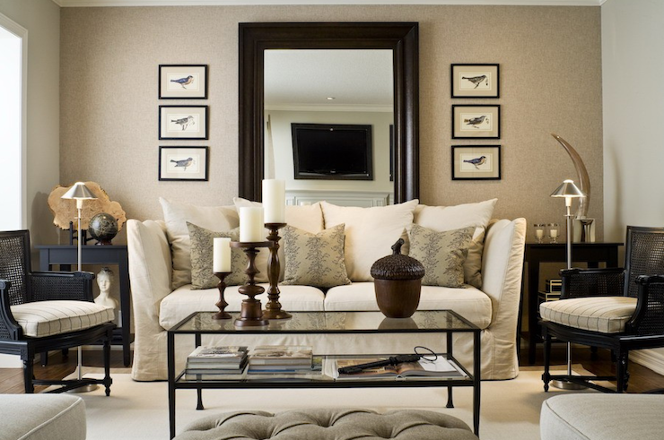 Mirror Behind Sofa Traditional Living Room Toronto Interior Design Group