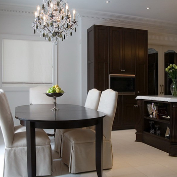 Chocolate Brown Cabinets, Transitional, dining room, Toronto Interior Design Group