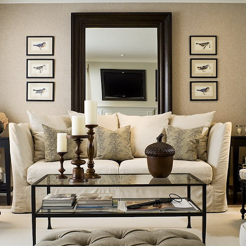 Mirror Behind Sofa, Traditional, living room, Toronto Interior Design Group