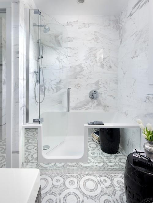 Master bath shower designs contemporary bathroom toronto interior design group - Bathroom design toronto ...