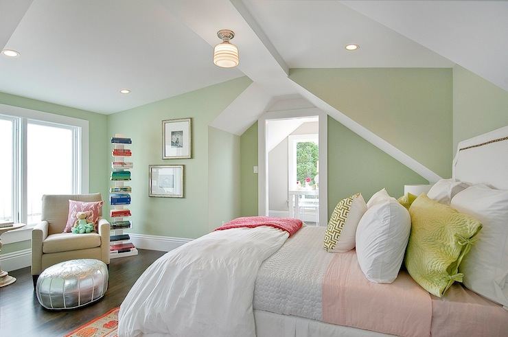 Spring Paint Colors green paint colors - transitional - girl's room - benjamin moore