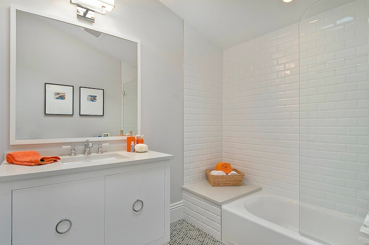 Good Beveled Subway Tile Shower