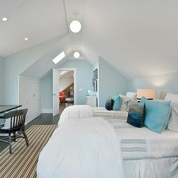 White and Blue Boys Bedroom, Transitional, boy's room, Benjamin Moore Fantasy Blue, Cardea Building Co.