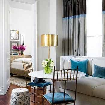 Two Tone Curtains, Contemporary, living room, Benjamin Moore Classic Gray, Toronto Interior Design Group