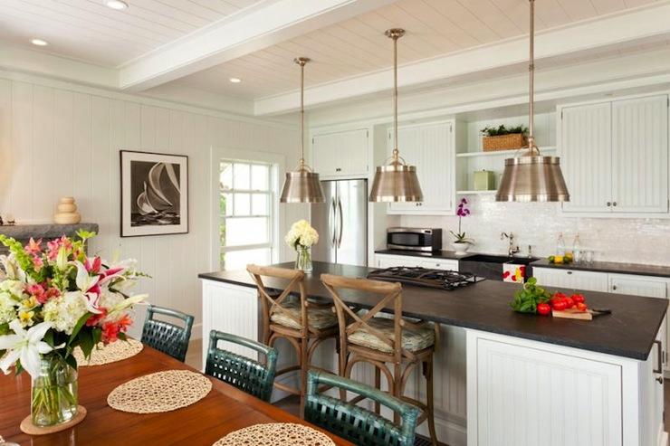 Beadboard Cabinets - Cottage - kitchen - Hutker Architects