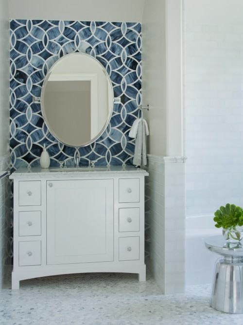 Beau Monde Polly Tile Contemporary Bathroom Lizette