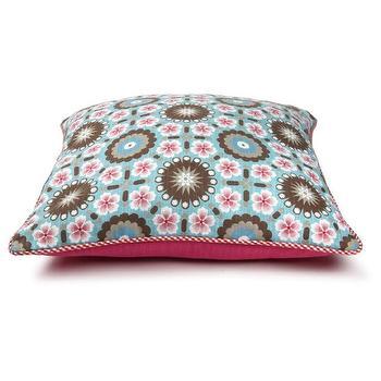 Tiles Blue Pillow