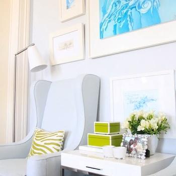 Light Blue Wingback Chair