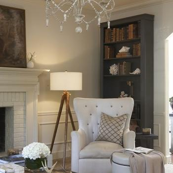 Gray Bookcase, Traditional, living room, Dana Wolter Interiors