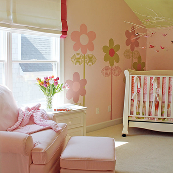 Pink Glider and Ottoman, Traditional, nursery, Lucy and Company