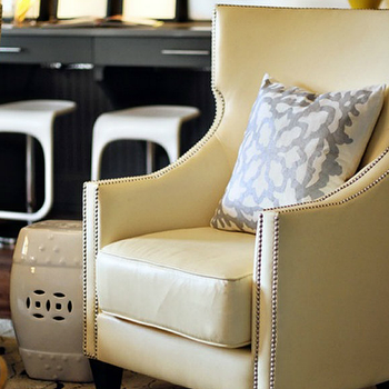 Yellow Wingback Chair, Contemporary, living room, Lucy and Company
