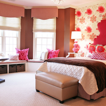 Pink and Brown Girls Room, Contemporary, girl's room, Lucy and Company