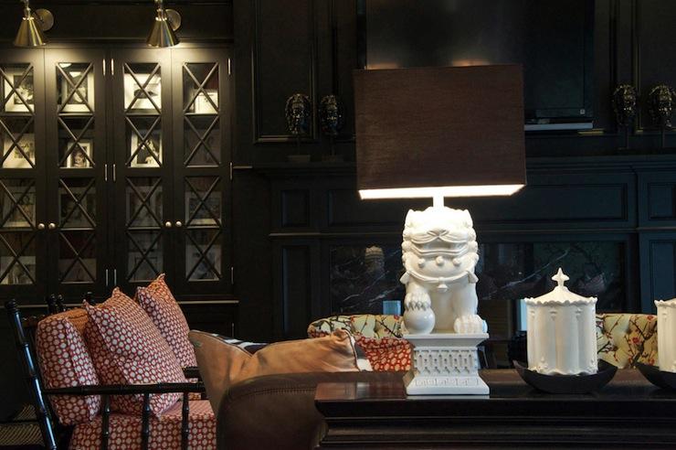 Foo Dog Lamp Eclectic Living Room Megan Winters