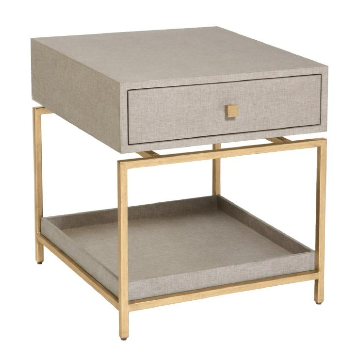 Alexander Side Table Flax Gold
