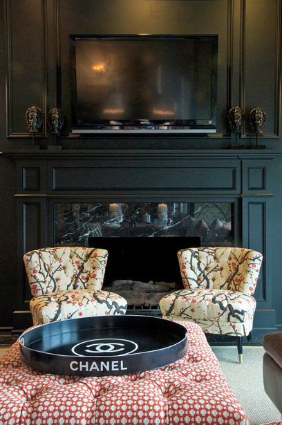 Cherry Blossom Chairs Eclectic Living Room Megan Winters