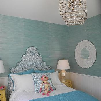 Turquoise Blue Grasscloth Wallpaper Design Ideas