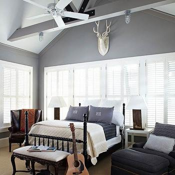 Blue and Gray Boy's Room, Transitional, boy's room, Benjamin Moore Storm, Dillon Kyle Architecture