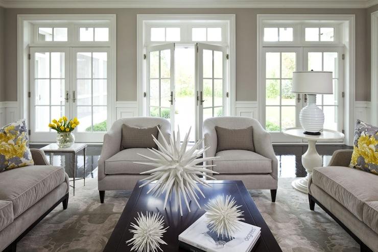 Beige Walls. Beige Walls   Contemporary   living room   Benjamin Moore Shale