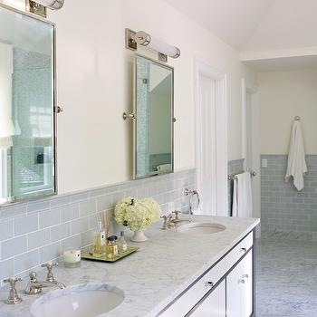 Gray Subway Tile, Contemporary, bathroom, Bella Mancini Design