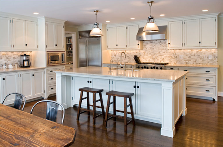 Ivory Kitchen Cabinets Transitional Kitchen Elissa