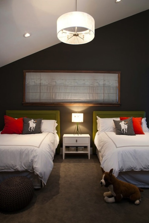 Green And Brown Boys Room Contemporary Boy S Room