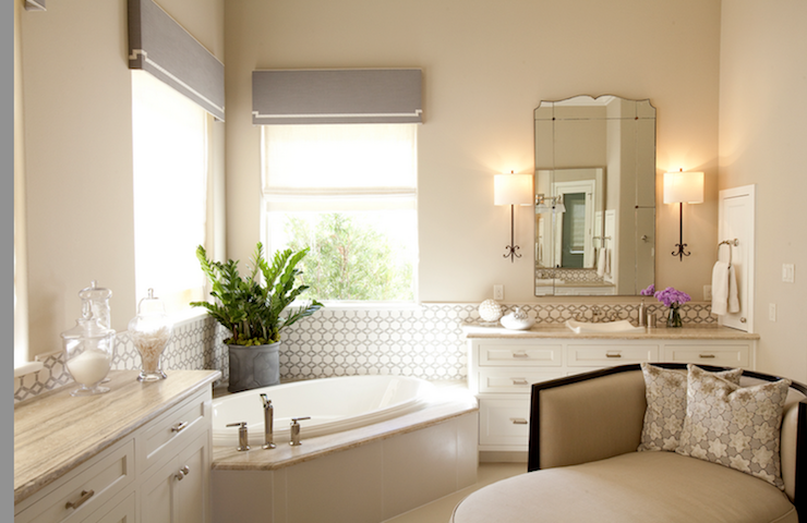 Corner bathtub transitional bathroom dodson and daughter interior design - Corner tub bathrooms design ...
