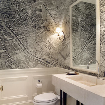 Chair Rail Ideas For Bathroom chair rail ideas for bathroom concept with 600 x 393 Vintage Map Wallpaper
