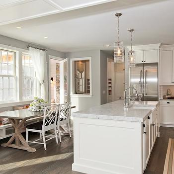 Concrete Dining Table, Transitional, kitchen, Refined LLC