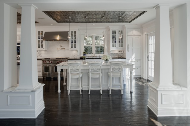 Tin ceiling transitional kitchen airoom - American tin tiles wallpaper ...