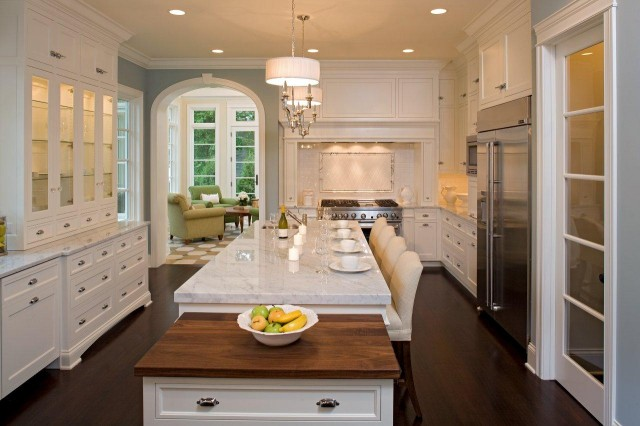 Drop down cabinet traditional kitchen stonewood llc for Traditional white kitchens