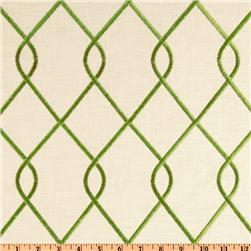 Suburban Home Embroidered Rico Jungle Green Discount Designer Fabric Fabric Com