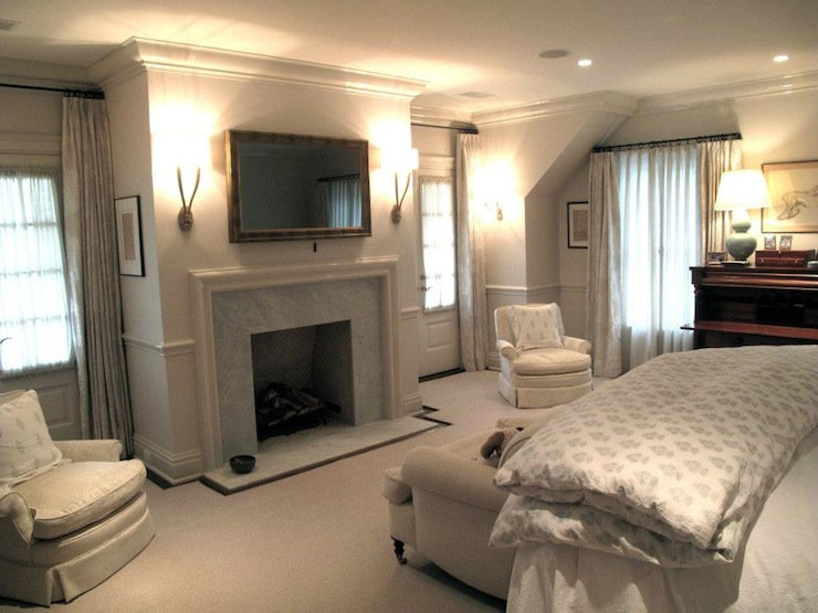 bedroom tv over fireplace design ideas