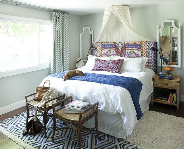 Sheer Bed Canopy Eclectic Bedroom Amber Interiors