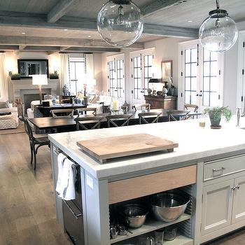 Double Dishwashers, Transitional, kitchen, Jane Green