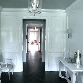 Herringbone Floor, Transitional, entrance/foyer, Jane Green
