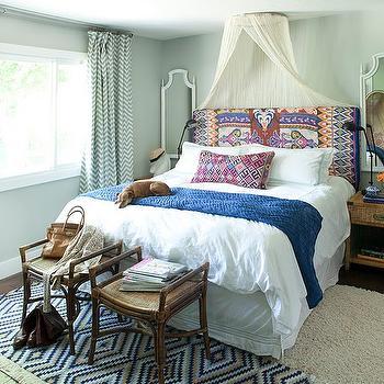 Sheer Bed Canopy, Eclectic, bedroom, Amber Interiors