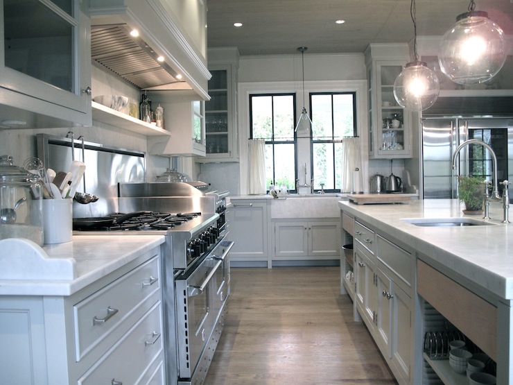 Gray Kitchen, Transitional, kitchen, Jane Green