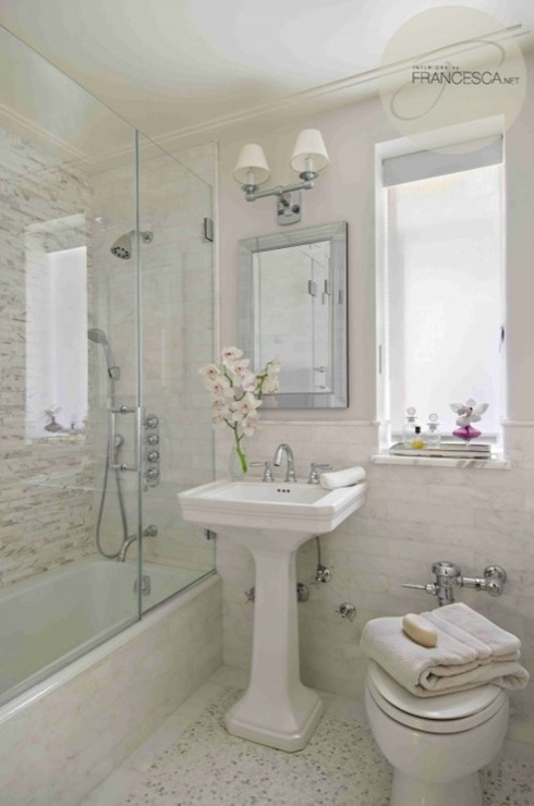Drop In Tub Shower Doors - Transitional - bathroom - Interiors by ...