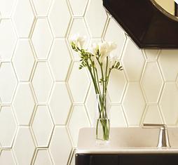 Ceramic Art Tile, Barbara Barry Frame, Ann Sacks Tile & Stone