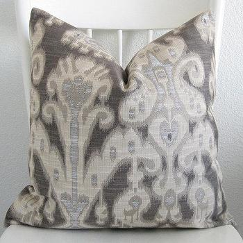 Decorative pillow cover Throw pillow Ikat by chicdecorpillows