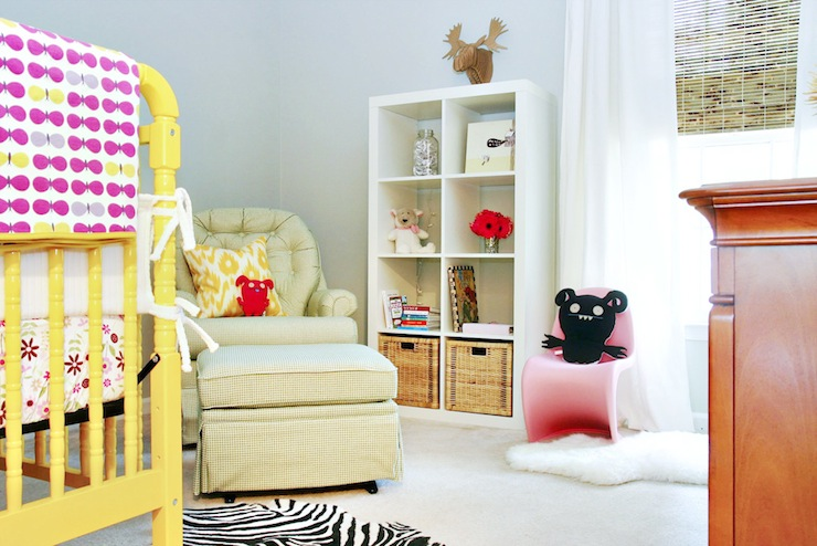 Yellow Crib Eclectic Nursery Ab Chao