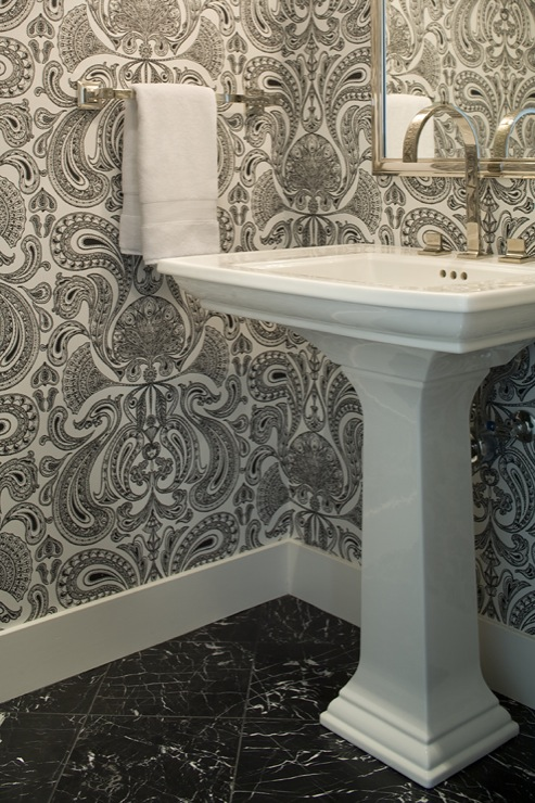 wallpaper for powder room design ideas
