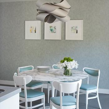 Turquoise Dining Chairs, Contemporary, dining room, Shirley Parks Design