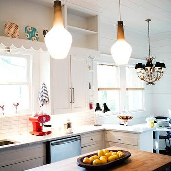 Plank KItchen Ceiling, Eclectic, kitchen, AB Chao